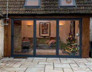 Extension conversion, paved patio folding doors, KL and Sons Building Services, Bath, Devises, Marlborough