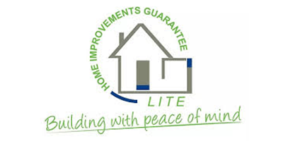 """Lite logo, """"Home Improvements Guarantee. Lite. Building with peace of mind."""""""