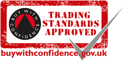 """""""Buy with confidence Trading Standards Approved buywithconfidence.gov.uk"""", Modern Kitchen fitting in progress, green walls, white dated worktops, exposed fittings, power tools, KL and Sons Building Services, Devizes, Marlborough, Calne, Bath"""